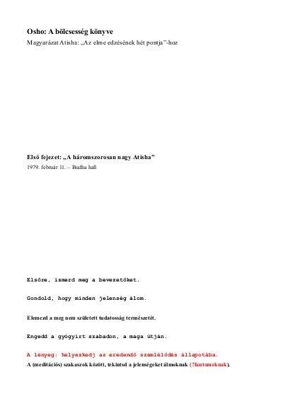 Osho: Bölcsesség könyve PDF